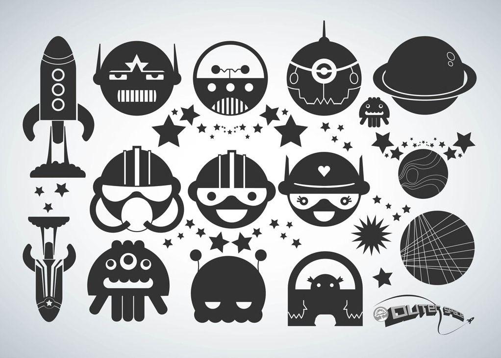 extranjero,astronauta.,dibujos animados,caracteres,Alegre,diversión ...