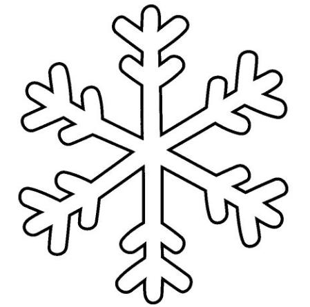 Fiocco Di Neve Disegno Semplice