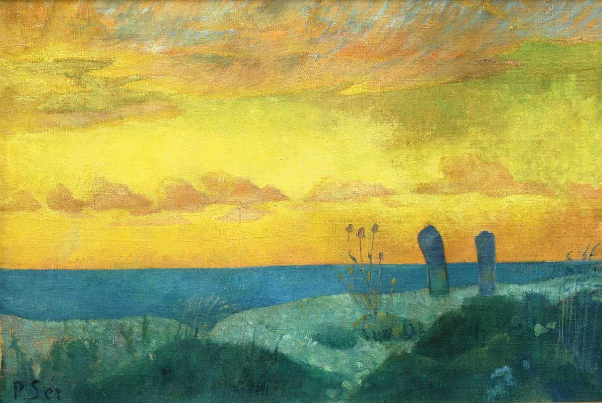 Peintre Contemporain Célèbre Vivant paul sérusier 1864-1927 bord de mer au pouldu hst 37x55