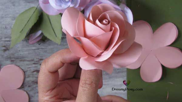 how to make easy paper rose free template yuma craft projects