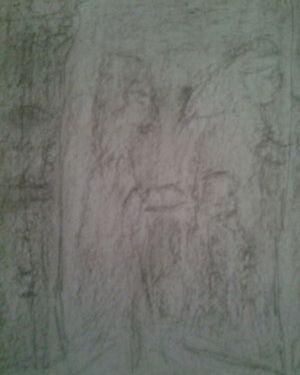 "Saatchi Online Artist cynthia jackson; Drawing, ""UNDER THE PYRAMID BY CYNTHIA JACKSON"" #art"
