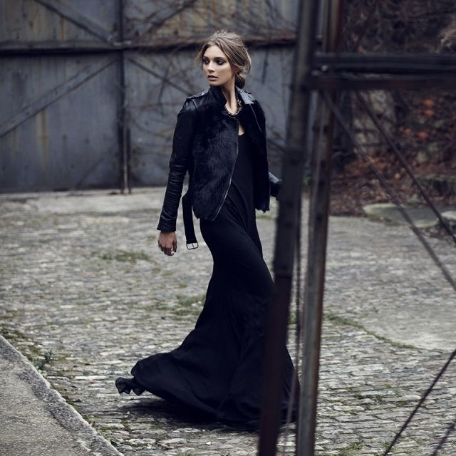 Αποτέλεσμα εικόνας για maxi winter dresses οoutfits | total black ...