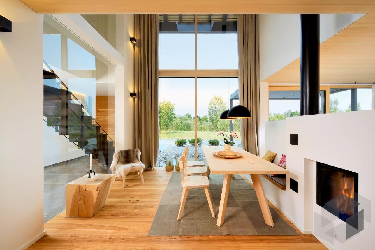 Moderne Holzeinrichtung im Alpenchic von Baufritz ➤ Auf der ___ ...