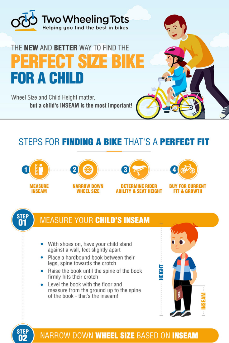 Kids Bike Sizes Guide A New Trick To Finding The Best Fit Two Wheeling Tots Kids Bike Sizes Kids Bike Best Kids Bike