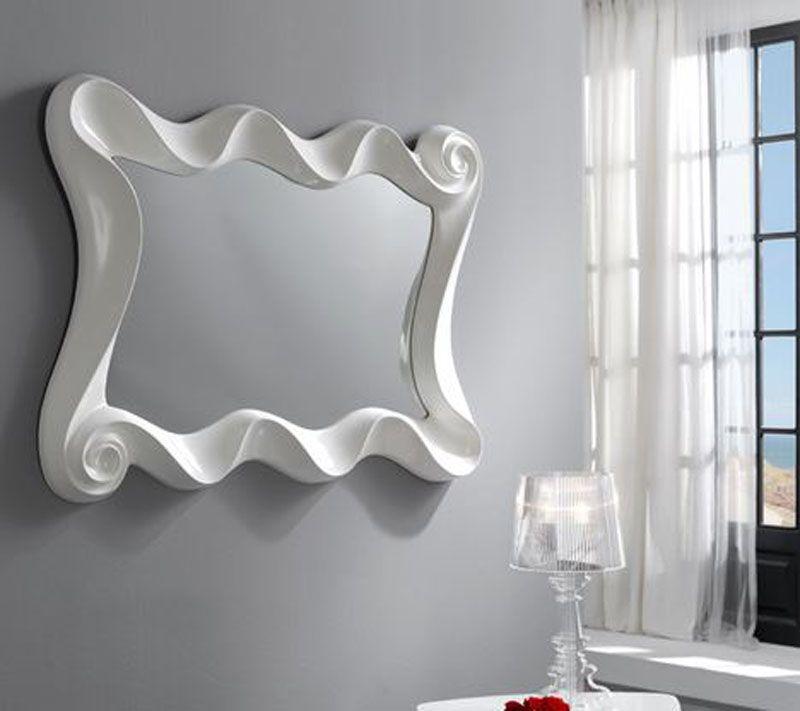 30fa8b5e4 Espejo moderno curves espejo moderno espejos de cristal espejos de ...