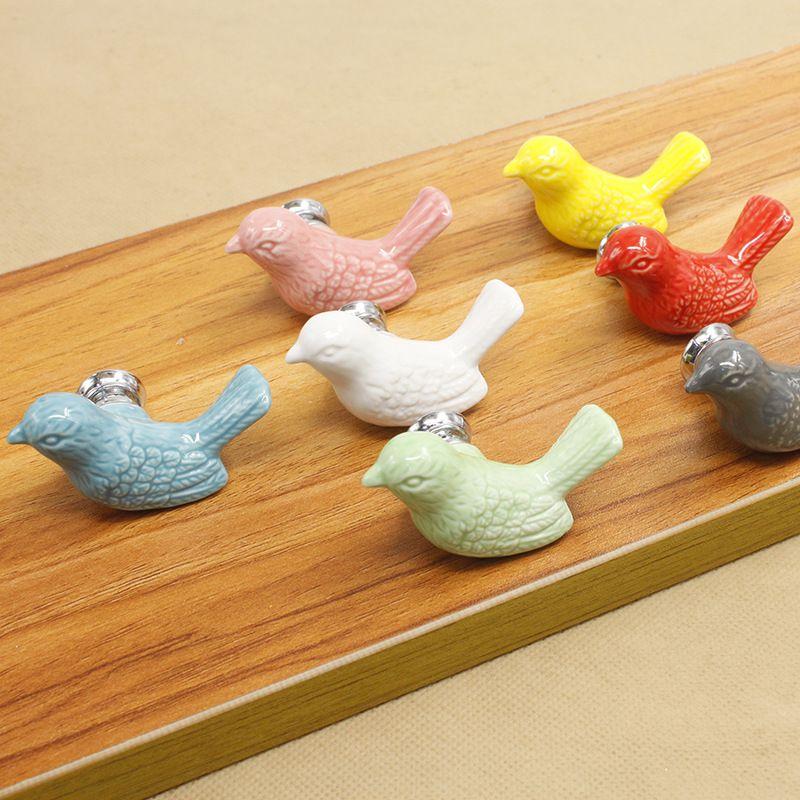 Mode Kreative Vogel Keramik Türgriff Kinderzimmer Schrank Schublade ...