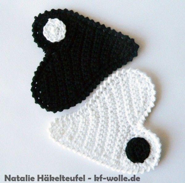 Herzen Häkeln Applikation Oder Deko Diy Crochet Applications