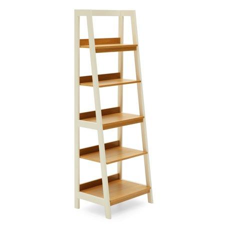 Modrn Scandinavian Finna Ladder Bookcase Walmart Com Ladder Bookcase White Bookcase Bookcase