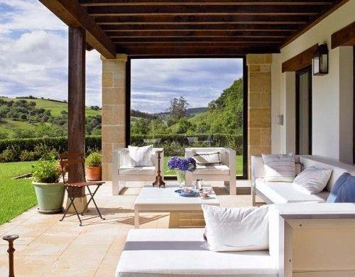 Varanda casa de campo lawn garden backyard porch outdoor in 2019 pinterest pergola - Porches de casas de campo ...