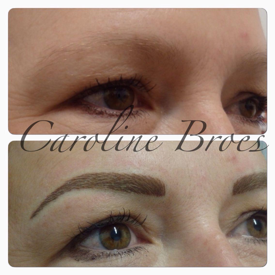 Hairstroke Eyebrows Cosmetic tattoo eyebrows, Eyebrow