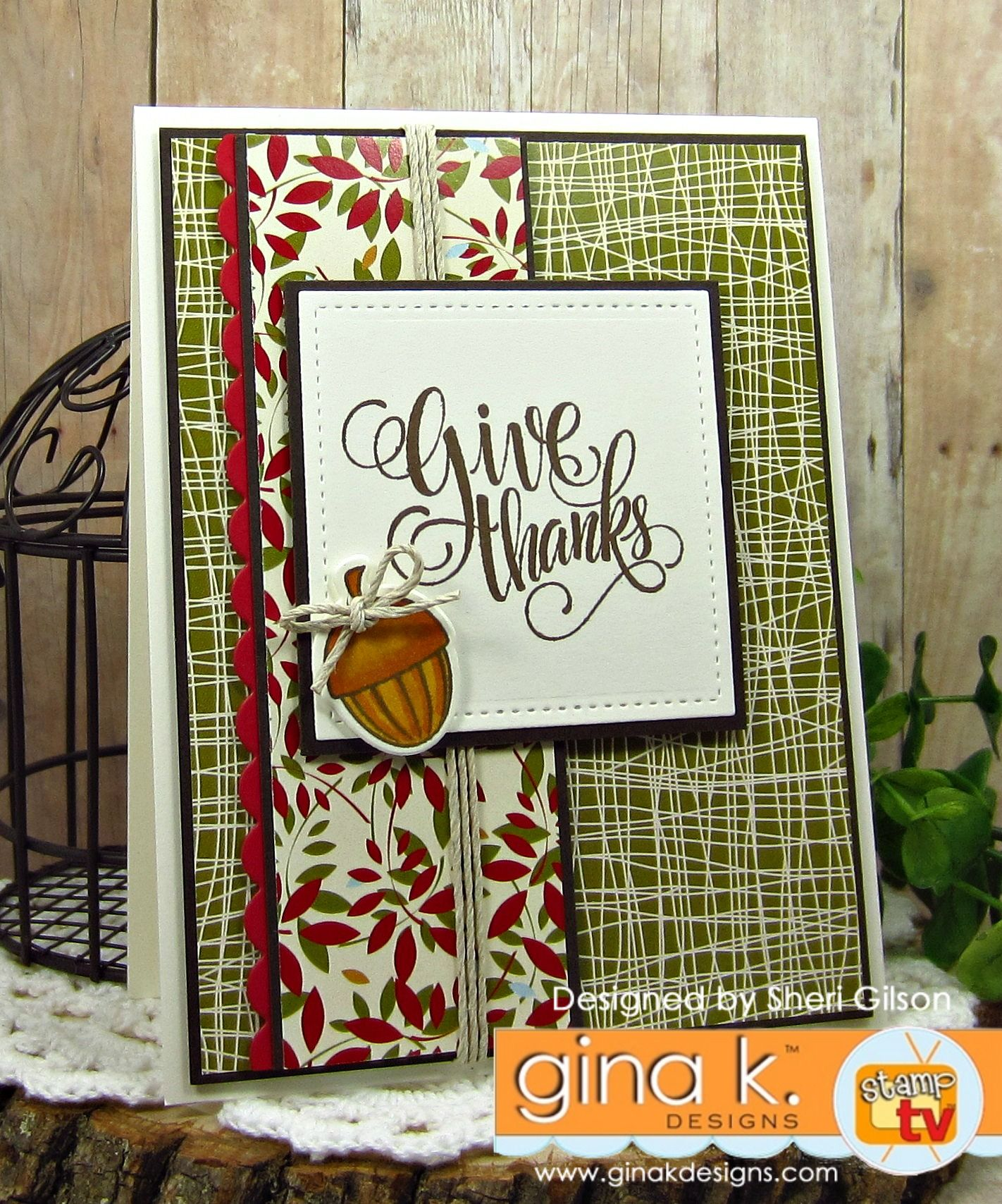 Painted Autumn StampTV kit from Gina K. Designs. Card by Sheri ...