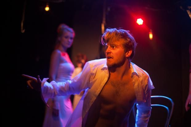 """""""The Duchess of Malfi"""" at the White Bear Theatre.   #Eyestrings excels in playing with characterisation as an ensemble, and even with a few problems with staging, they still demonstrate their ability to tell their version of a well-trodden story. © Photo by Richard Lakos  #theatre #London #WhiteBearTheatre"""