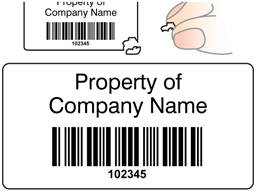 Scanmark Destructible Barcode Label Black Text 19mm X 38mm Barcode Labels Labels Company Names