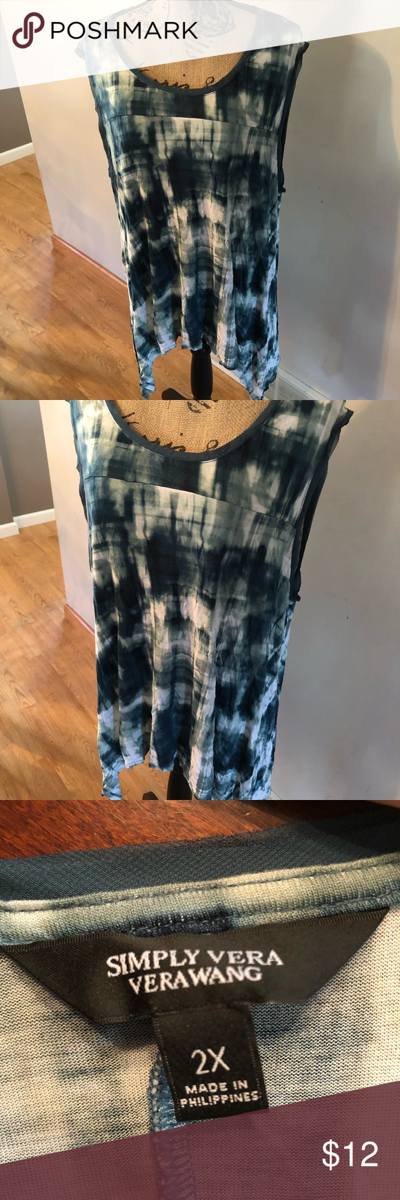 6146e0f2db083 EUC SIMPLY VERA tank top Size 2X! Gorgeous super soft with a beautiful shape.  Sides longer than middle creates a lovely silhouette 💕 Comes from a clean  and ...