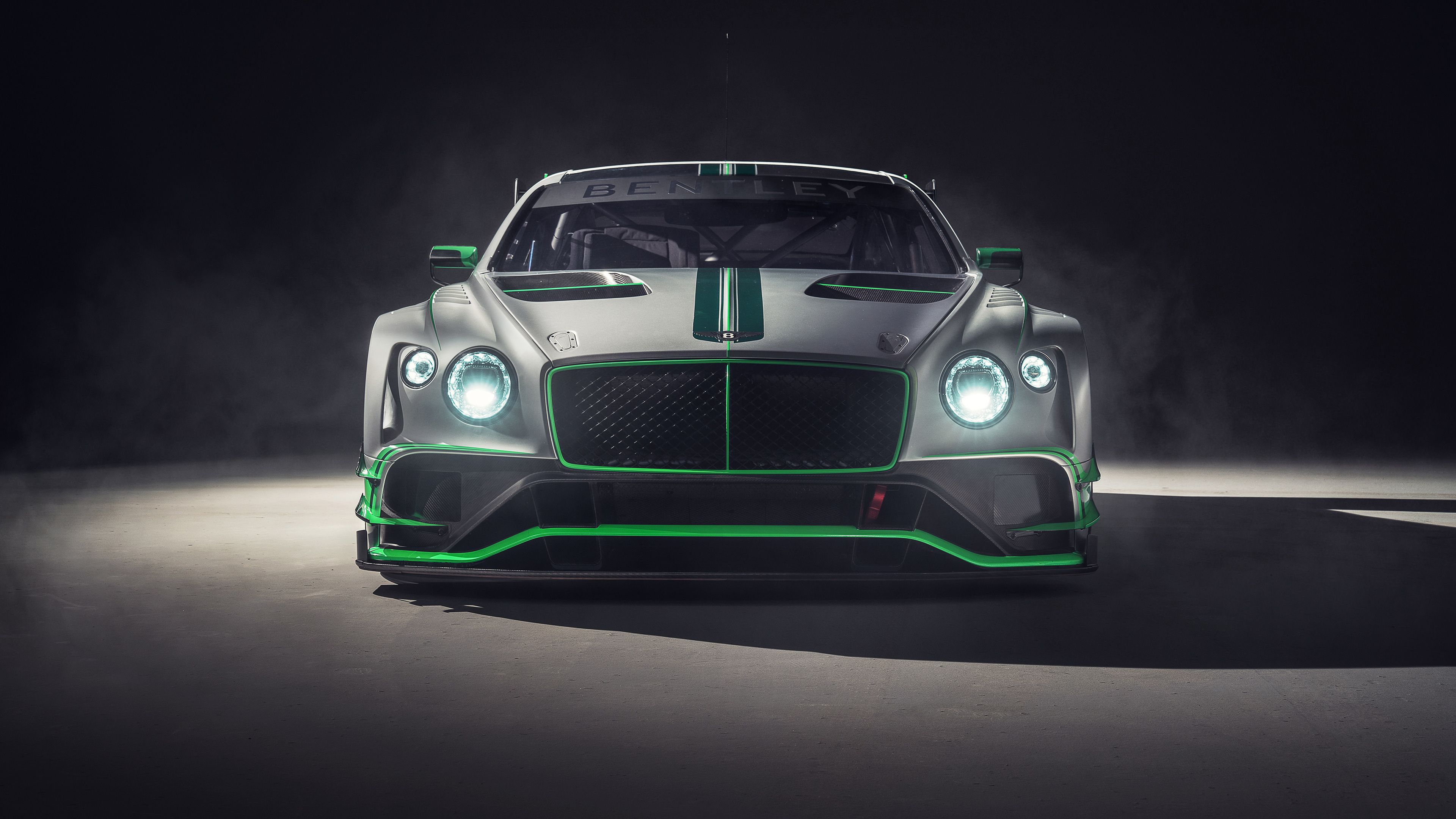 Wallpaper 4k Bentley Continental Gt3 2018 Front 2018 Cars