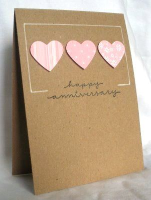 Think Outside The Box Clean And Simple Anniversary Cards Handmade Anniversary Cards For Couple Homemade Anniversary Cards