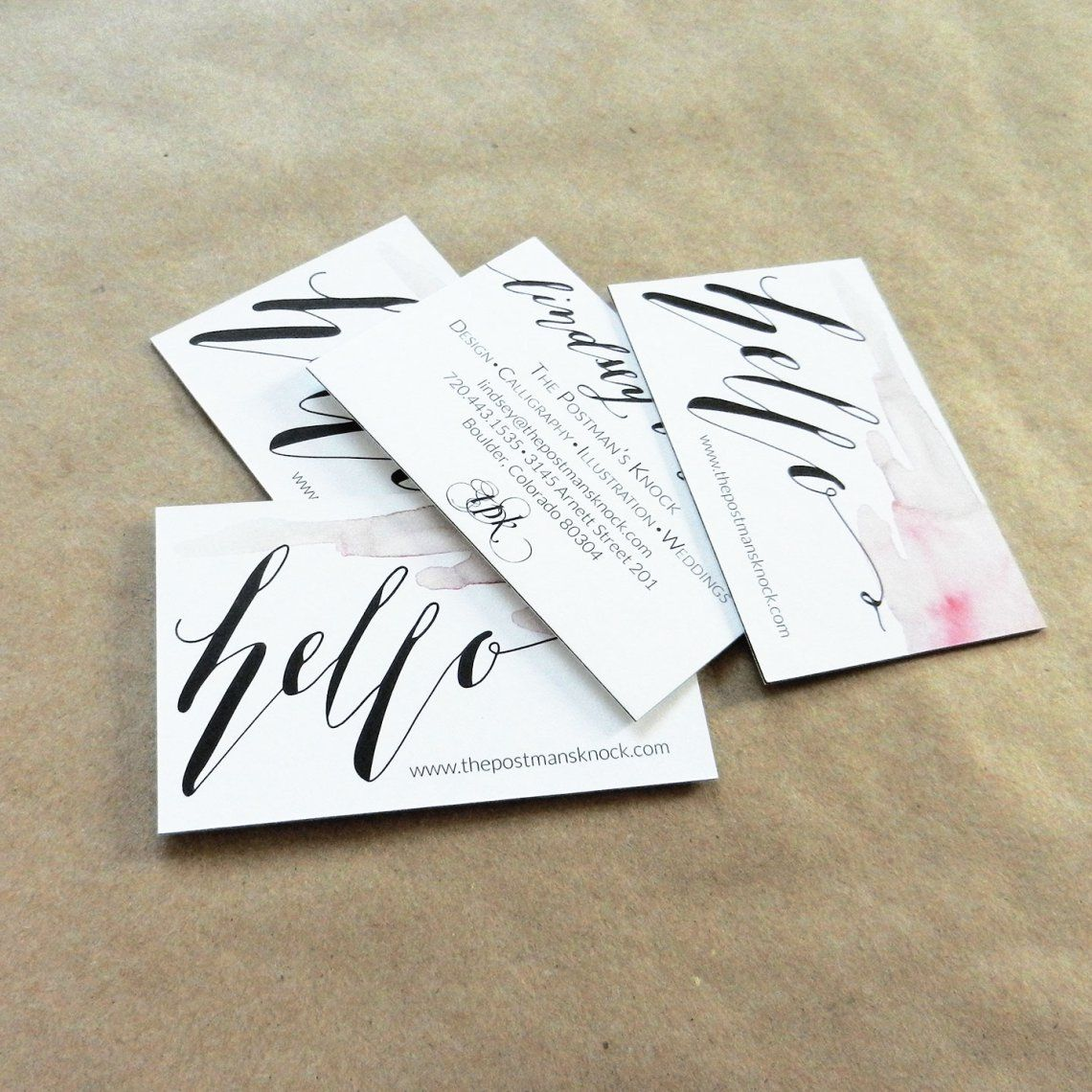 A Peek Inside the Studio | Business cards and Studio