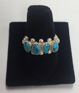 Vintage W.M. Wheeler Sterling Silver & Turquoise Ring Sz 8  | eBay
