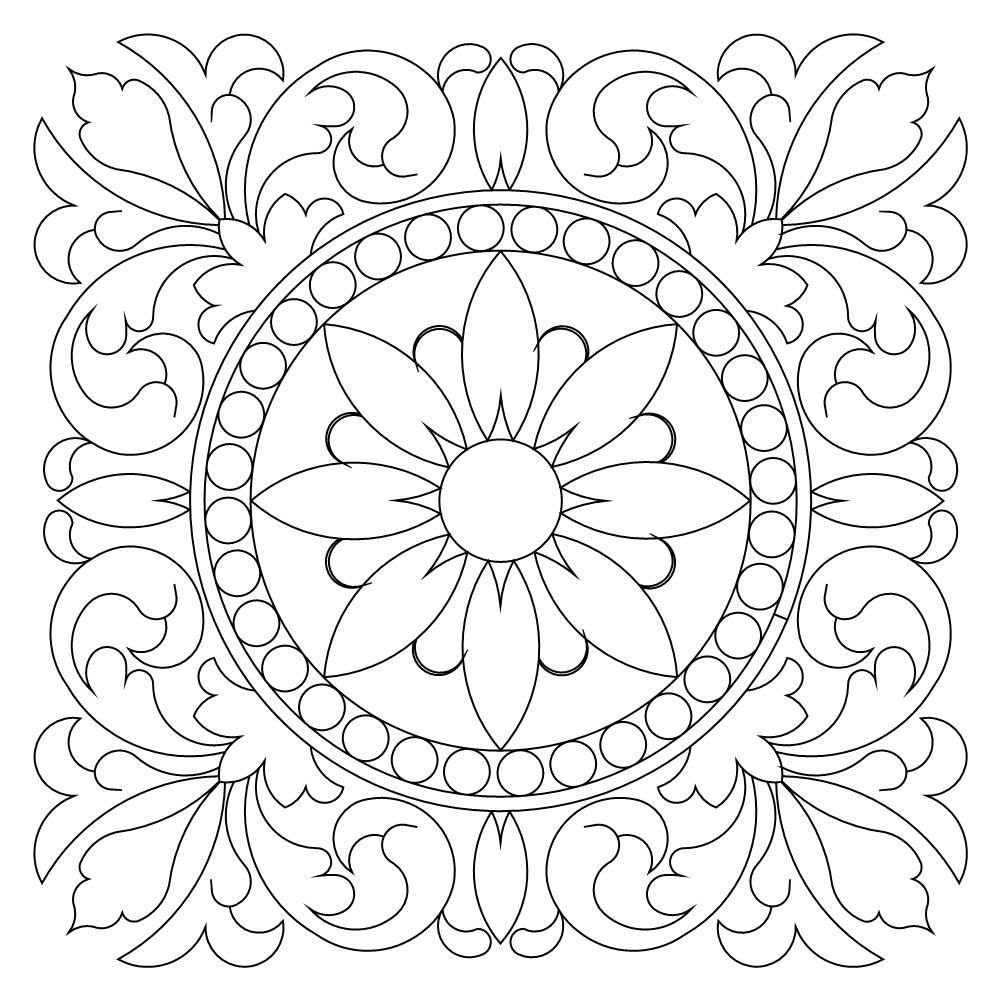 Tuscan Block 006 In 2020 Mandala Coloring Pages Pattern Art Coloring Pages Inspirational