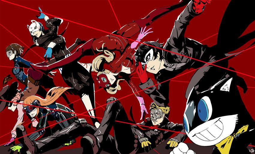Persona 5 Haru Okumura Makoto Niijima Futaba Sakura Yusuke Kitagawa Anne Takamaki Ryuji Sakamoto Protagonist And Mor Persona 5 Persona 5 Joker Persona