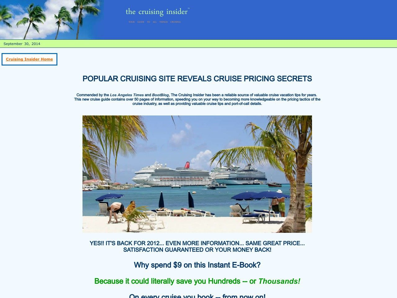 [Get] Cruiseguide 2011 - $9 Product, 50% Commission! - http://www.vnulab.be/lab-review/cruiseguide-2011-9-product-50-commission