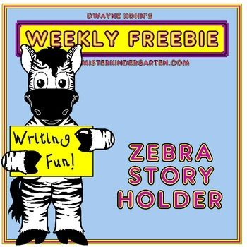 This reproducible zebra makes writing fun! Simply add lined paper - sample lined paper