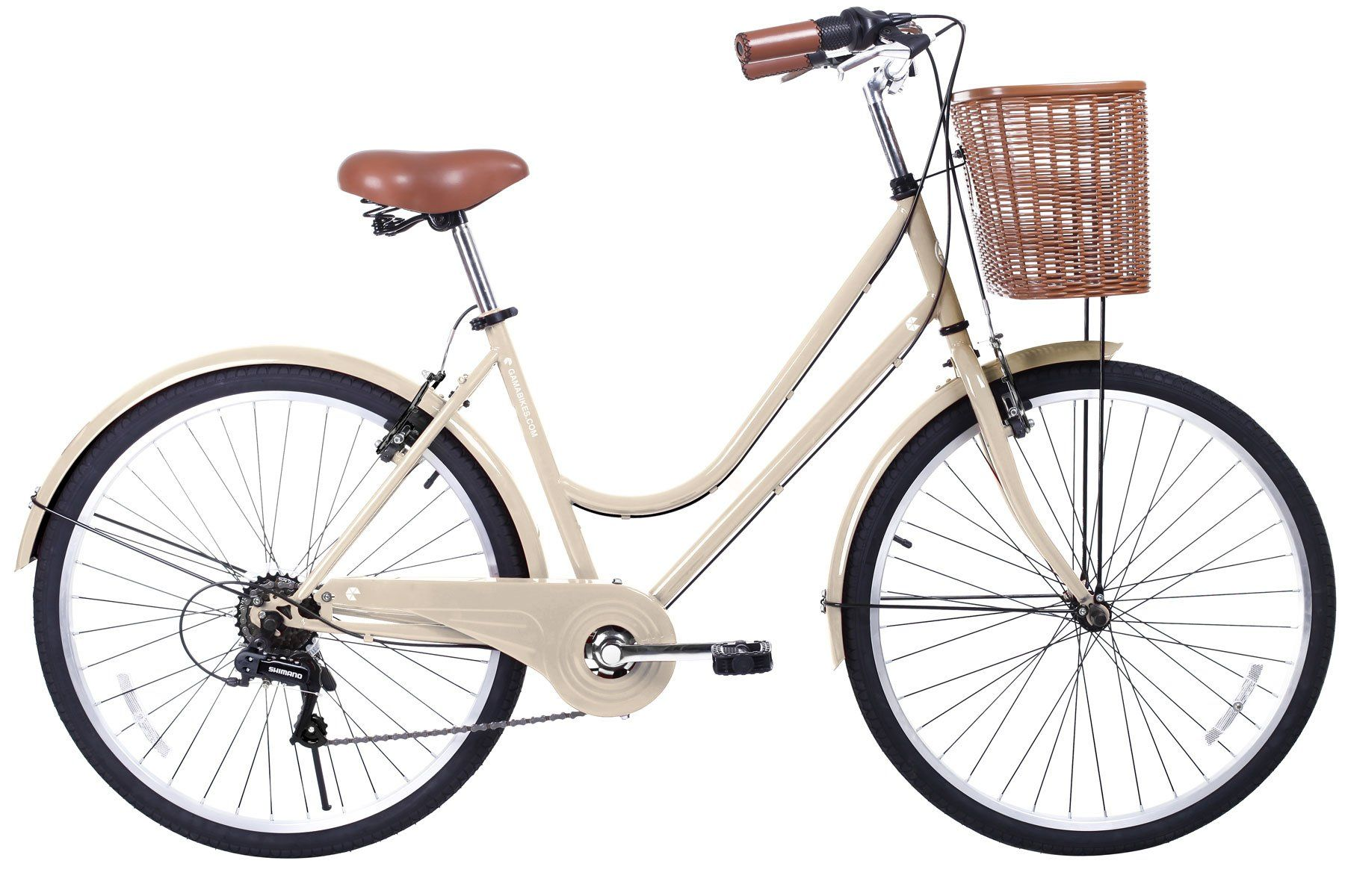 Gama Bikes Women's City Basic 26 Step Thru 6 Speed Shimano