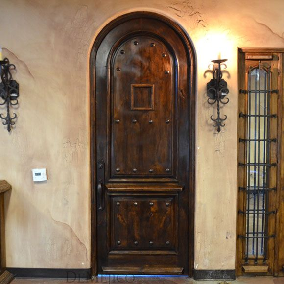 Modern front doors, the Puerta Maria is made from mahogany. With a ...