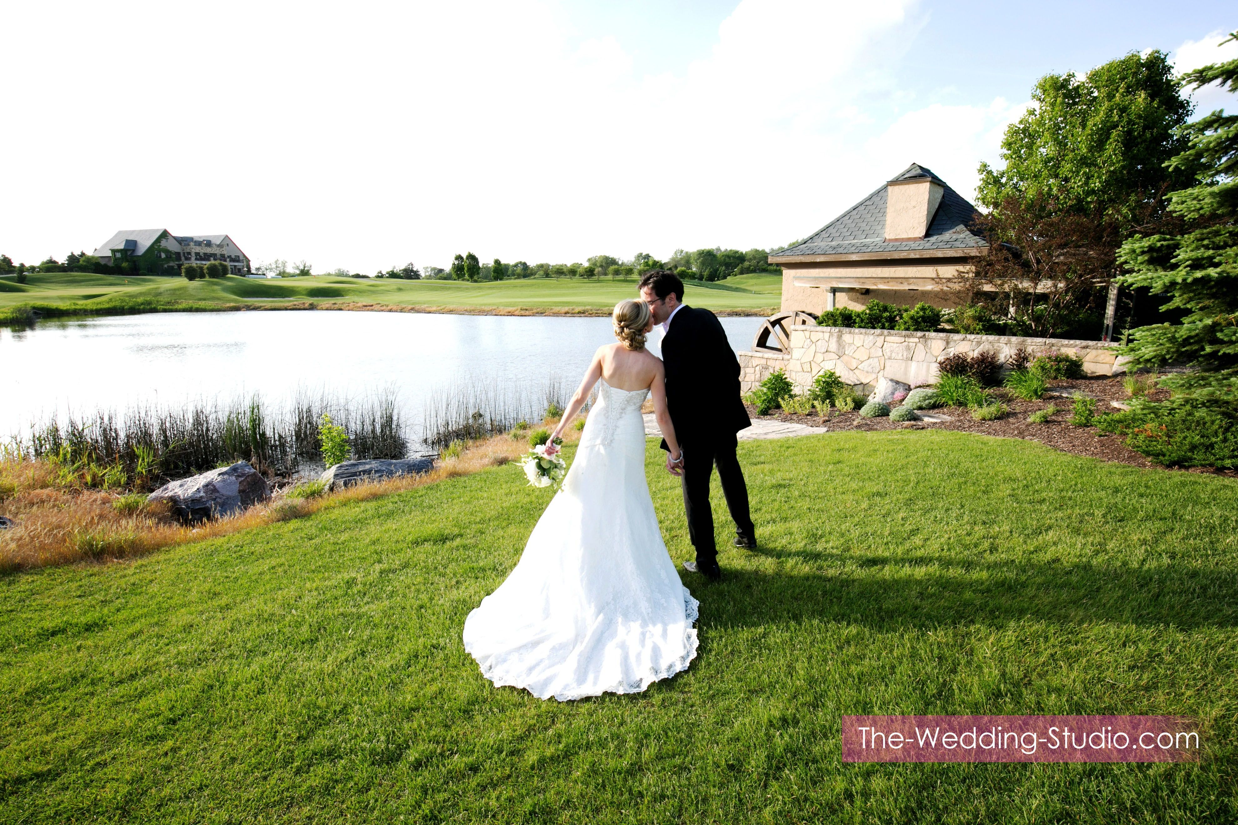 Take A Stroll By The Pond On Your Wedding Day At Makray Memorial Golf Club