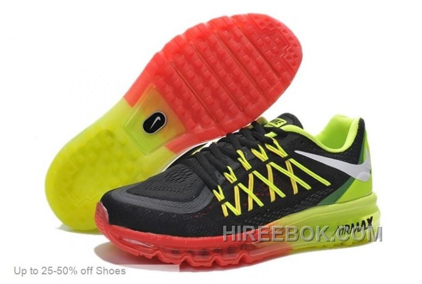 Buy New Nike Air Max 2015 Mens Shoes Black / Green / Red Discount from  Reliable New Nike Air Max 2015 Mens Shoes Black / Green / Red Discount  suppliers.