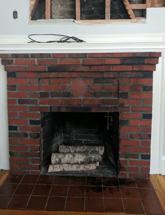 1930 S Fireplace Brick Refurbish Clic Fauxs Finishes