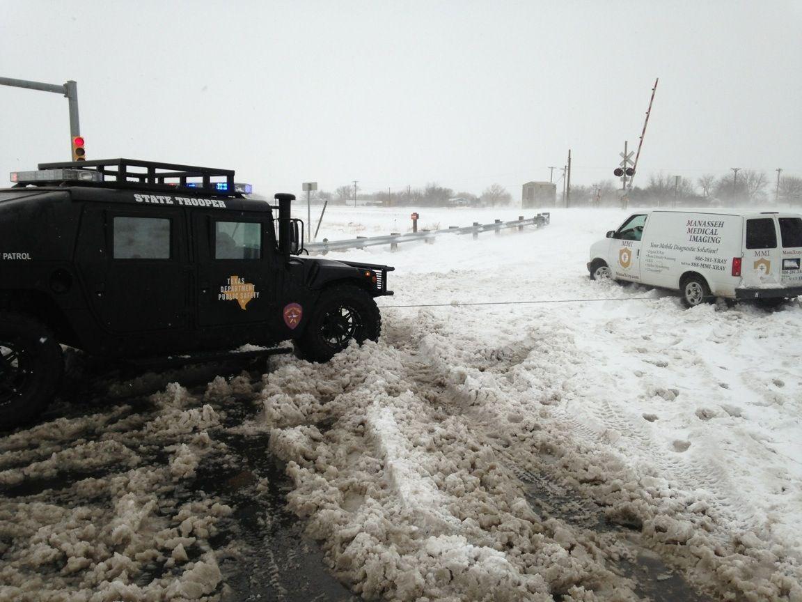 Amarillo snowstorm | Highway Patrol | Texas state trooper