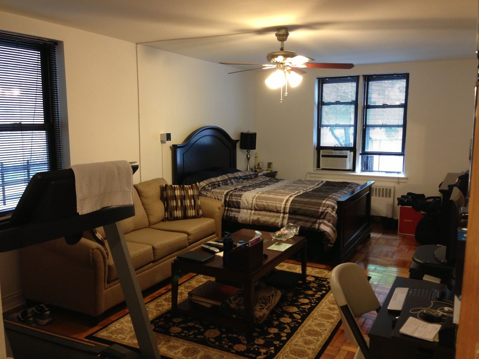 Bedroom layout ideas for small rooms couch google search - Couch for studio apartment ...