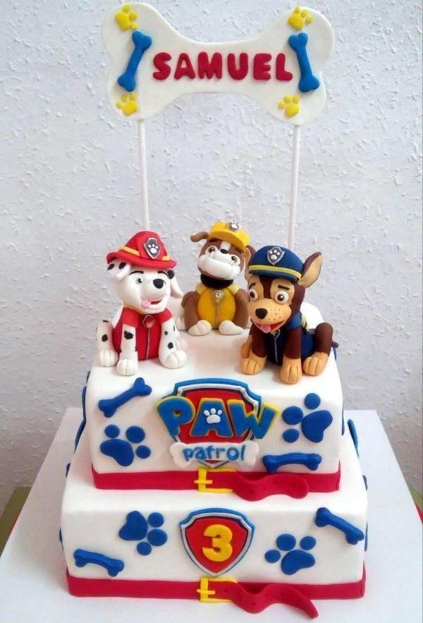 Otra tarta Paw Patrol De Perlas Tartas fondant personalizadas