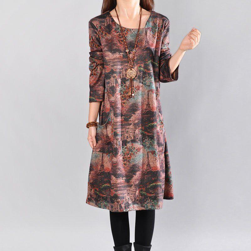 Casual Loose print dress