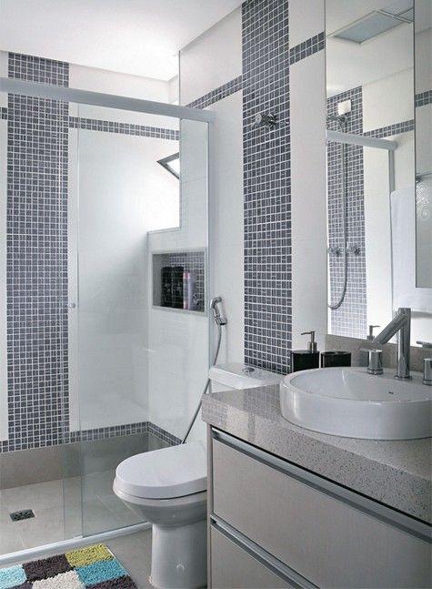onde colocar aspastilhas em banheiros pequenos  Pesquisa Google  banheiros  -> Banheiro Pequeno Onde Colocar A Lixeira