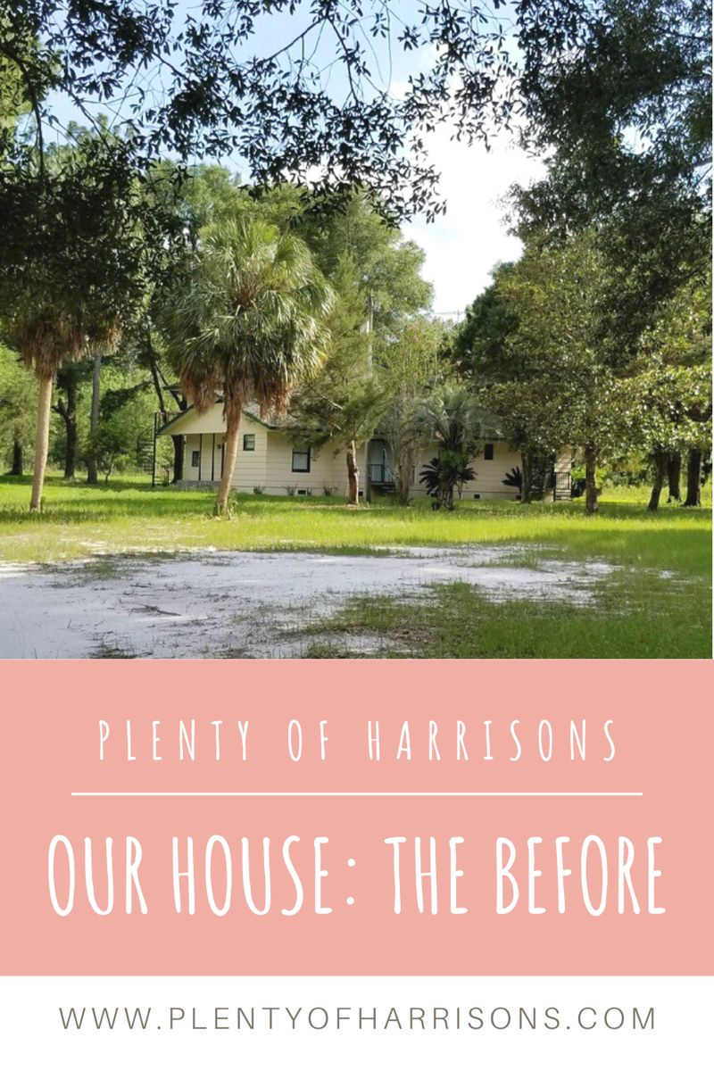 We bought our 40-year-old fixer-upper a few months after we got married and have been slowly chipping away at giving it a facelift ever since. Click to see the dark, outdated and dingy before photos here, and keep an eye out for progress posts on the blog! #housetohome #housetour #fixerupper #homerenovation #before