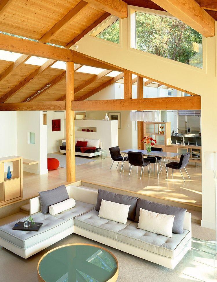 Una espectacular cubierta de madera para una casa de for Cubiertas para casas