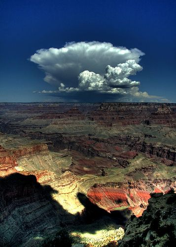 Storm brewing over the Grand Canyon