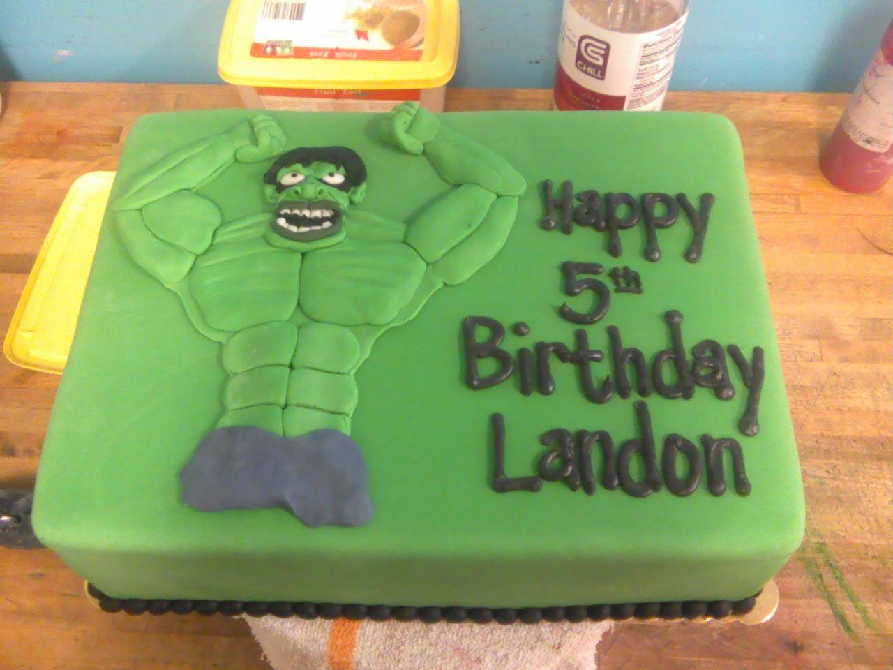 The Incredible Hulk birthday cake incredible hulk custom
