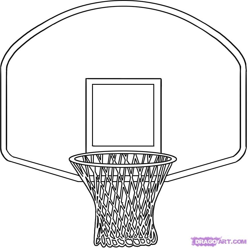 How To Draw A Basketball Hoop Step 4 Sports Birthday Party Basketball Birthday Parties Basketball Hoop