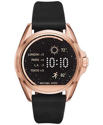 0c9561bd1fa27 Michael Kors Access Women s Bradshaw Black Silicone Smart Watch Strap  MKT9000