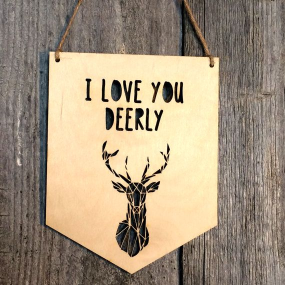 I Love You Dearly Nursery Wall Sign Nursery Wall by EtchdDesigns ...