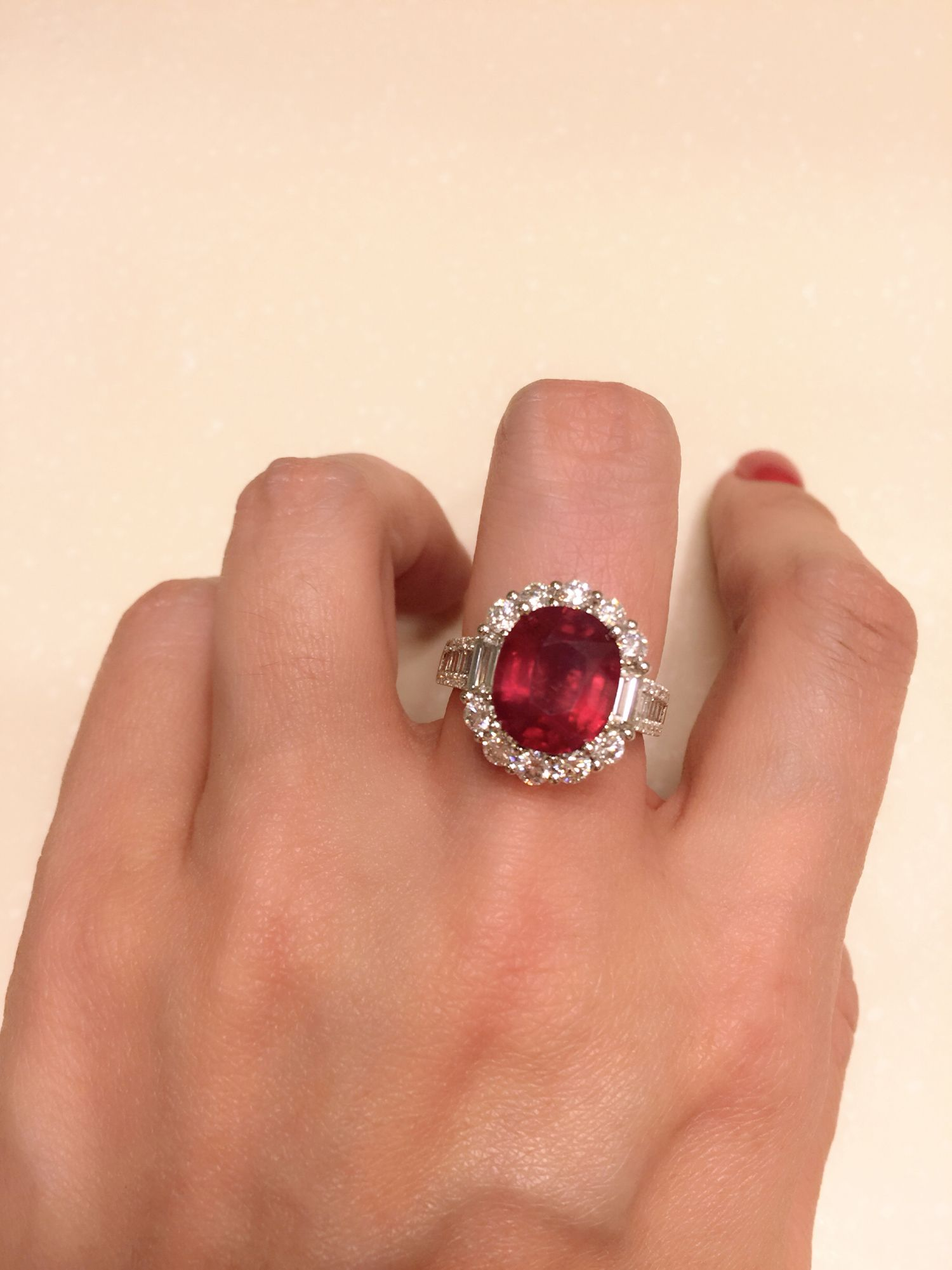 Huge ruby and diamond ring jwellery pinterest diamond ring