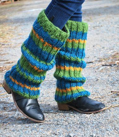 Striped Leg Warmers - Knitting Loom - Free Pattern | Knitting ...