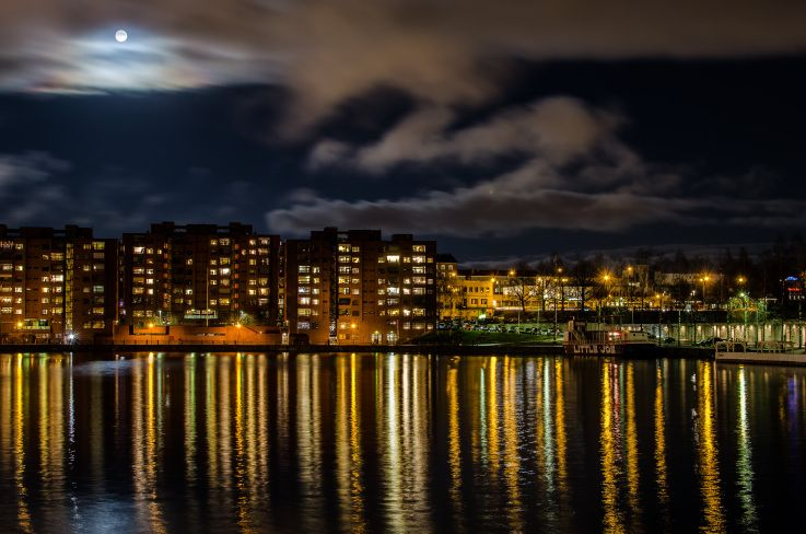 A night view of Ratina Tampere Finland.ph. Patric Ford