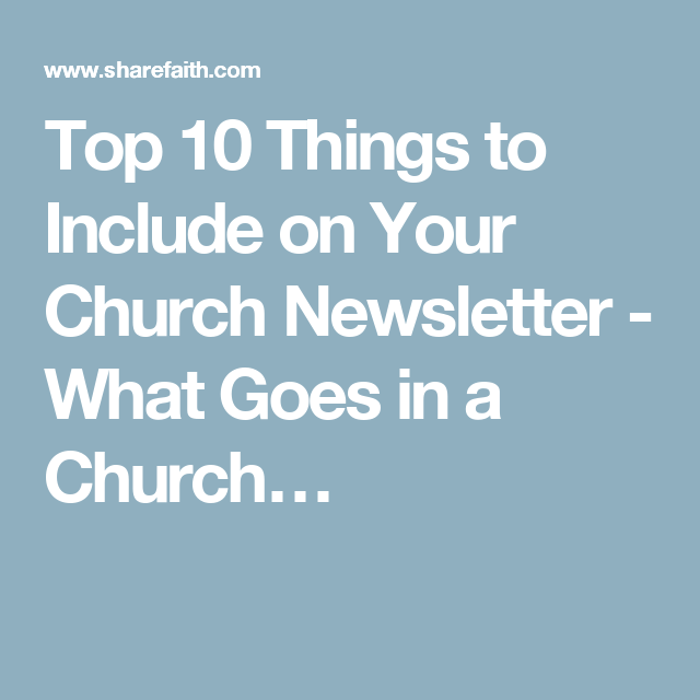 Top  Things To Include On Your Church Newsletter  What Goes In