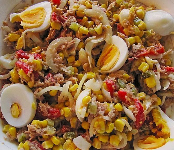 Mais Thunfisch Salat #melonrecipes