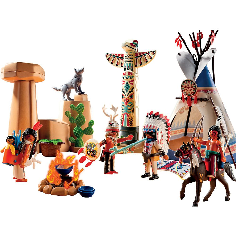 Playmobil Native American Camp with Totem Pole - Playmobil - Toys \