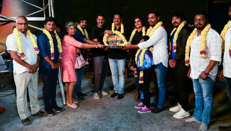 Prabhu Deva, Ramya Nambeesan @ Abhishek Films 'Production No:8' Pooja